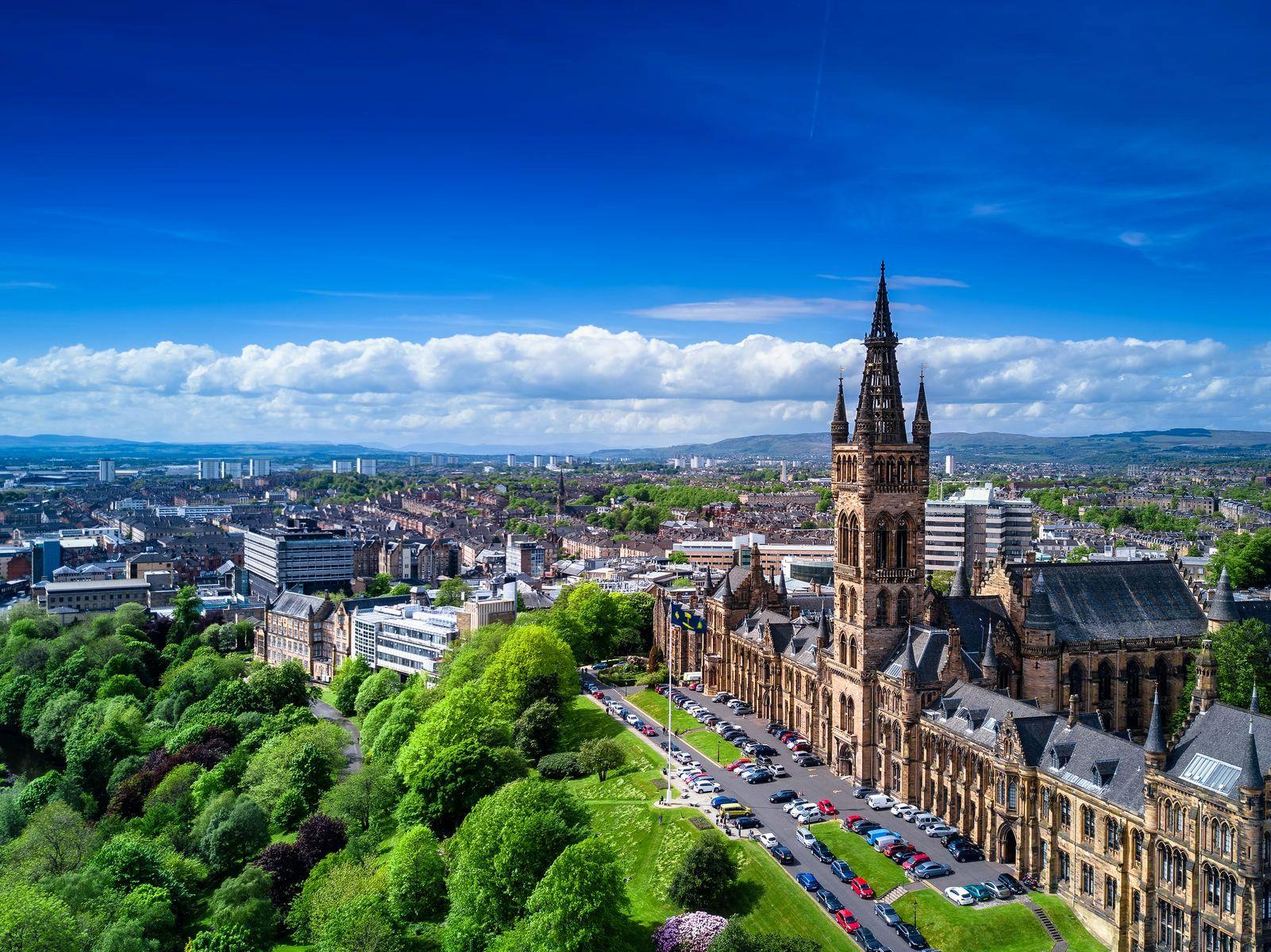 Шотландия. Панорама Глазго