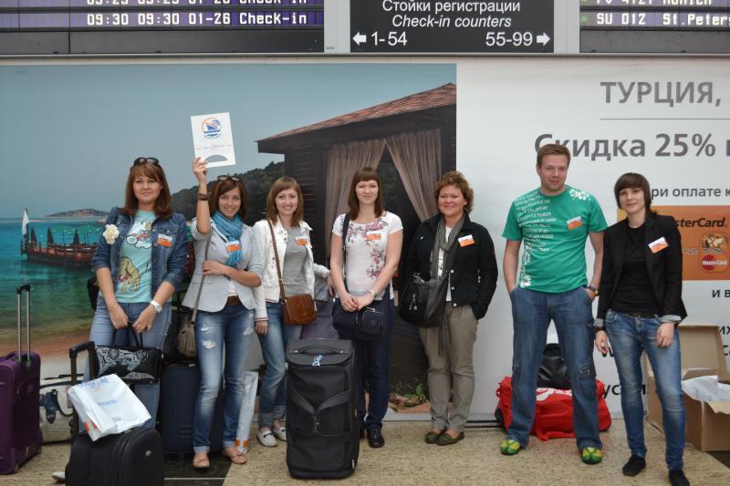 Встреча с Мореходами в аэропорту Шереметьево