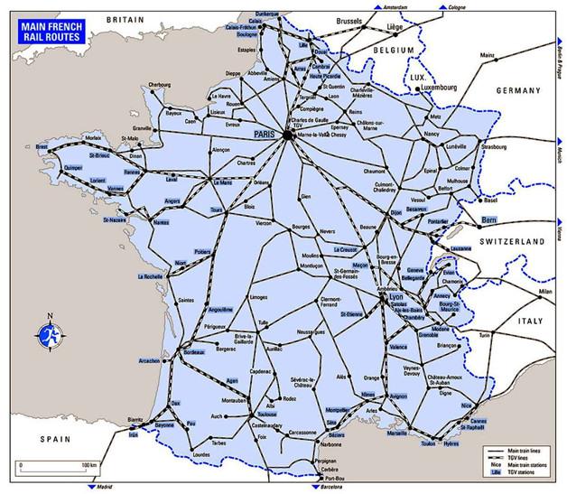 Основные направления TGV
