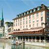 Самая красивая терраса Цюриха с видом на Старый город, Великий собор и озеро Цюрих