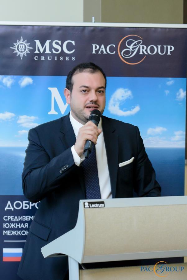 Исполнительный директор MSC Cruises Антонио Парадизо