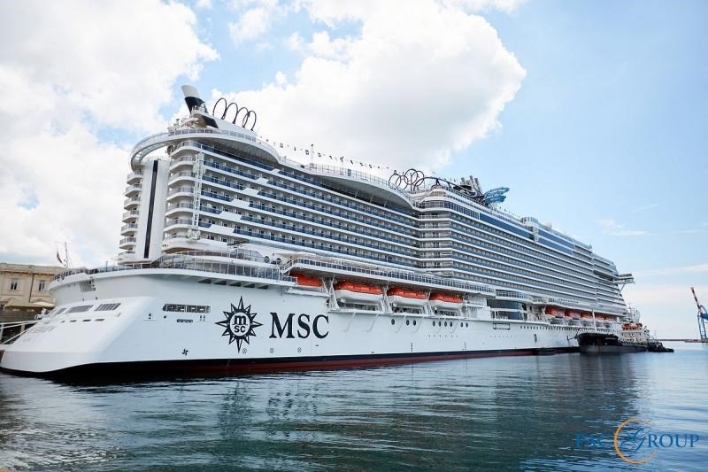 Блистательная церемония крещения лайнера MSC Seaview прошла в порту Генуи