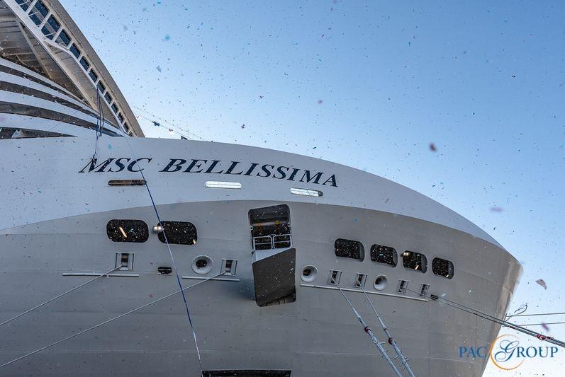 MSC Cruises приняла лайнер MSC Bellissima у судоверфи Chantiers de l'Atlantique