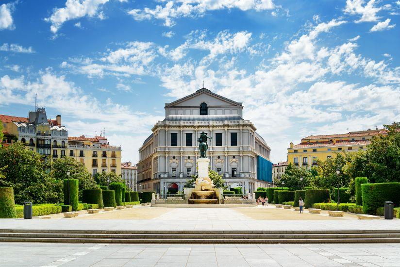 Мадрид. Королевский Оперный театр. Главный вид