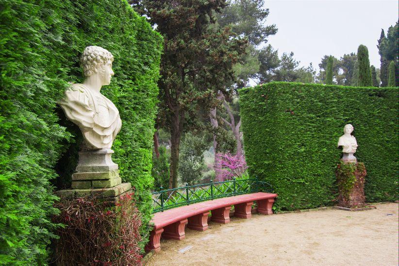 Ллорет де Мар. Сады Санта Клотильда. Аллея