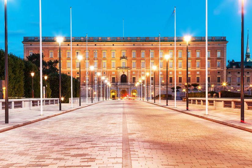 Стокгольм. Королевский дворец. Главный вход