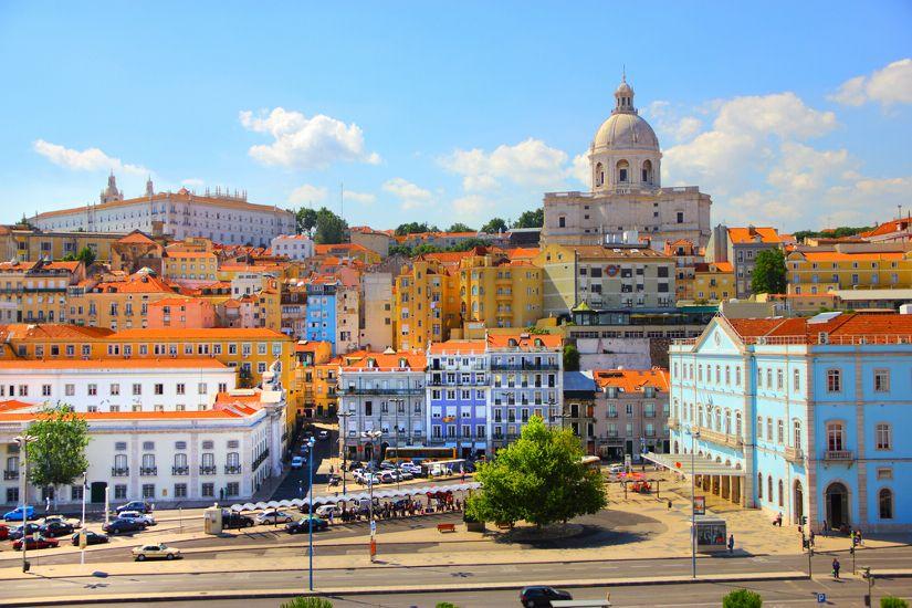 Лиссабон . Вид на город