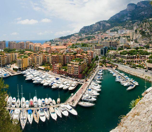 Монако. Яхты в гавани