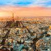 Париж в сумерках. Вид сверху