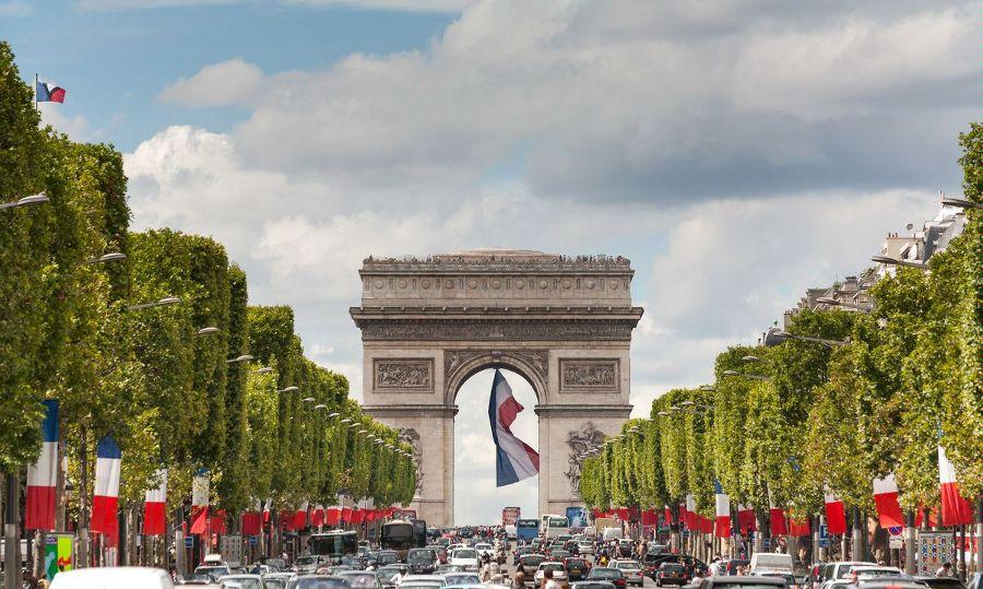 Париж. Округ 8. Триумфальная арка. Округ 8 – Елисейские Поля