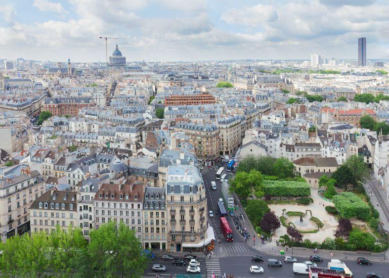 Париж. Округ 5. Латинский квартал. Панорама. Округ 5 – Пантеон
