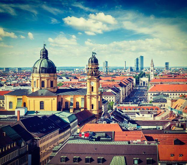 Мюнхен. Панорама старого города