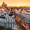Мадрид. Гран Виа на закате