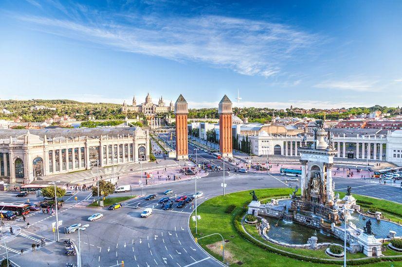Барселона. Вид на площадь Испании