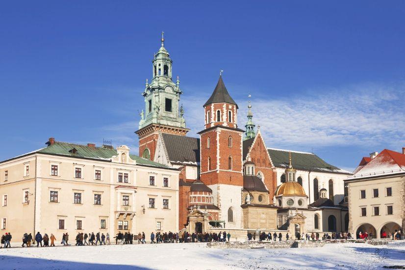 Краков. Вавельский замок зимой