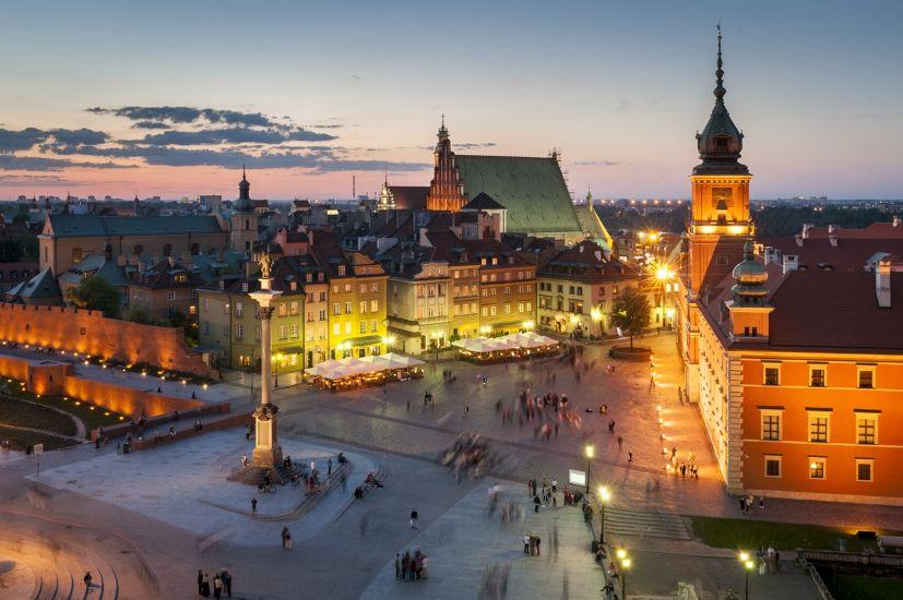 Варшава. Старый город вечером