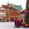 Варшава. Замковая площадь на Новый год и Рождество