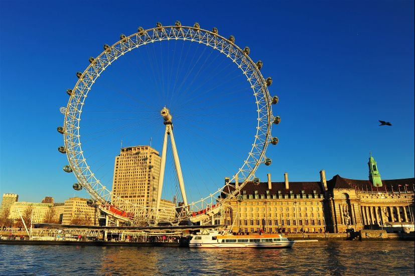 Лондон. Колесо обозрения Лондонский глаз