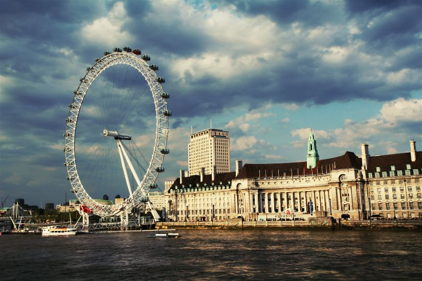 Лондон. Панорама с колесом обозрения