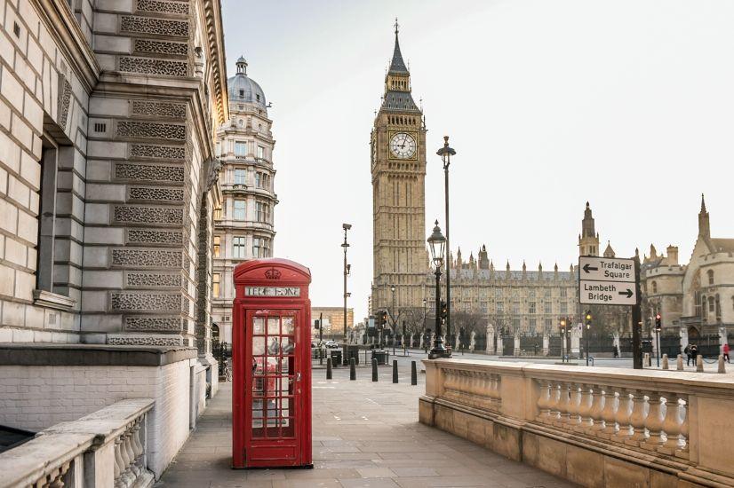 Лондон. Биг Бен и телефонная будка