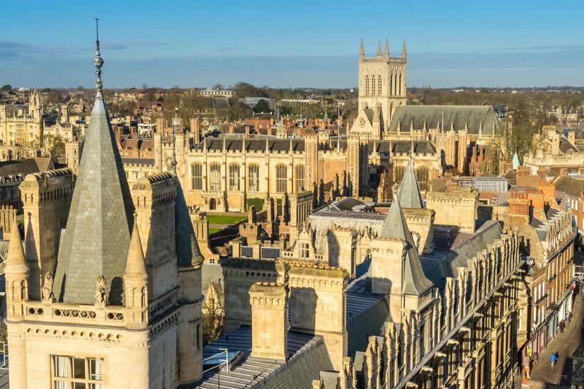 Кембридж. Крыши университета