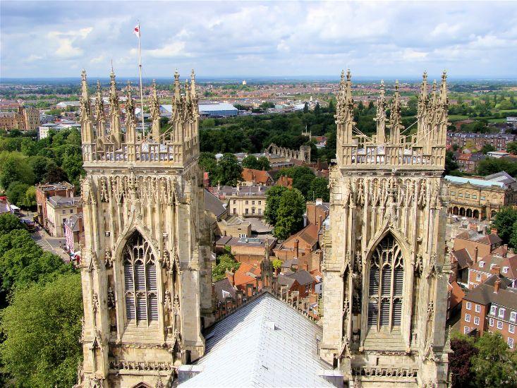 Йорк. Панорама с Йоркского собора